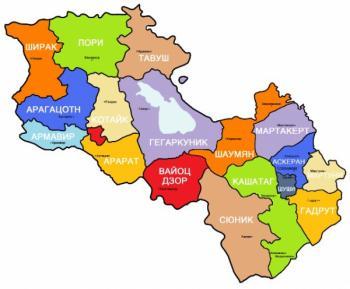 карта Армения Арцах