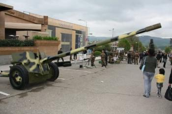 100-мм противотанковая пушка «Рапира» Армии обороны Арцаха