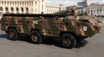 Пусковая установка оперативно-тактического ракетного комплекса «Точка-У» вооруженных сил Армении