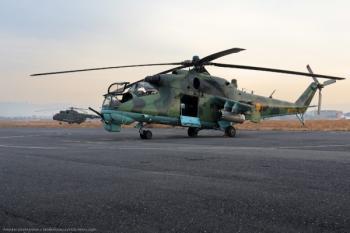 Вертолет огневой поддержки МИ-24В ВВС Армении