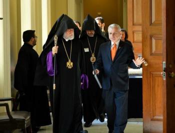 Католикос Арам и Джек Рид