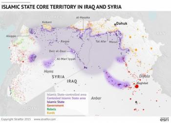 карта Исламского государства