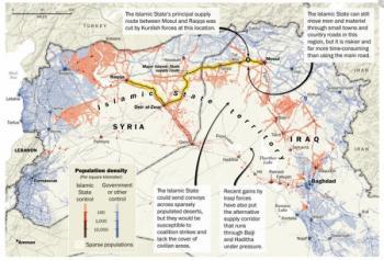 пути снабжения Исламского государства