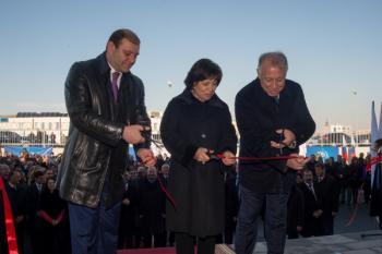 Открытие Ледовой арены Ирины Родниной в Ереване