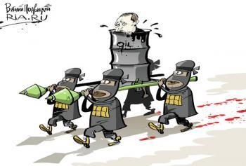 карикатура - Эрдоган и ИГИЛ