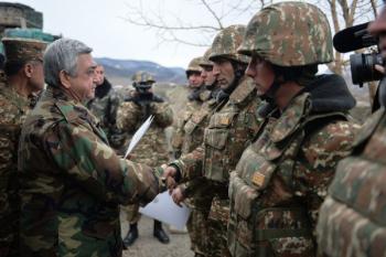 Серж Саргсян в армии