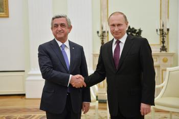 Путин в послании Саргсяну призвал развивать и укреплять союзнические связи