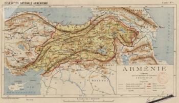Карта объединенной Армении
