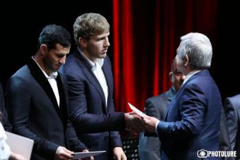 Президент Серж Саргсян наградил лучших спортсменов Армении за 2017 год