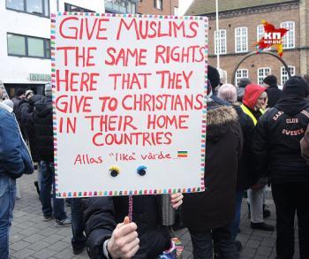 Демонстрация против массовой миграции Швеция