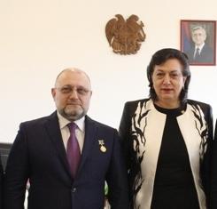 Восстановление армянской общины г. Грозный обсудили Грануш Акопян и Джамбулат Умаров