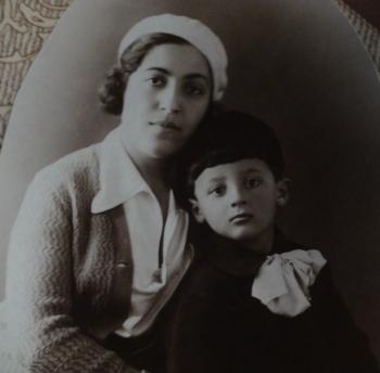 Охита Тер-Багдасарян с сыном Леонидом