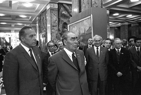 Леонид Брежнев и Гейдар Алиев в Баку