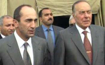 Гейдар Алиев и Роберт Кочарян