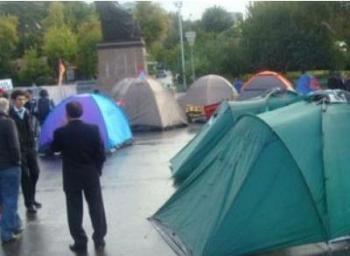 1 марта палатки на площади