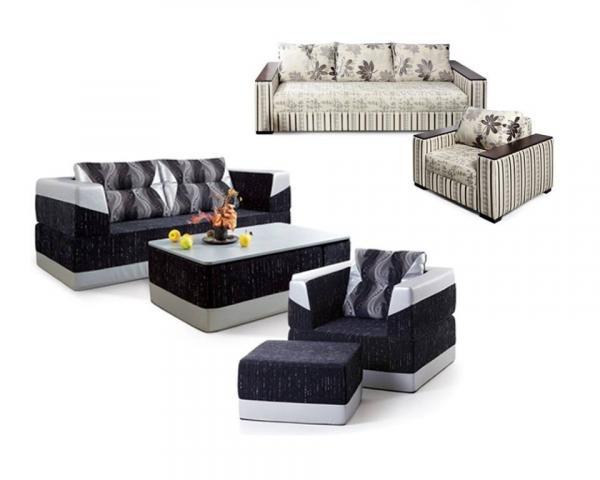 Комплект мягкой мебели со столиком