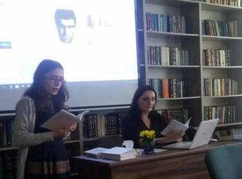 Виктория Аракелова на презентации