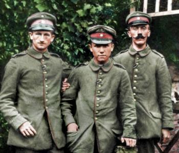 Адольф Гитлер с сослуживцами Первая мировая война
