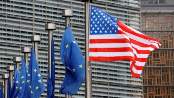 Флаг США и ЕС