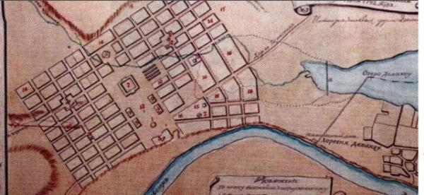 план Григориополя 1792 г.