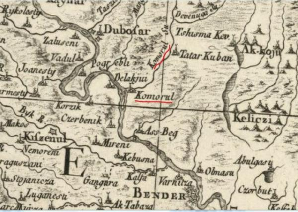 карта Коморул