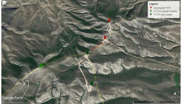 1._Pozitsii_VS_Armenii_i_sil_GPS_Azerbaydzhana_v_rayone_gor_Papakar._27.04.2019