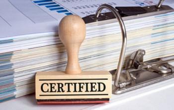 Сертификат Сертификация