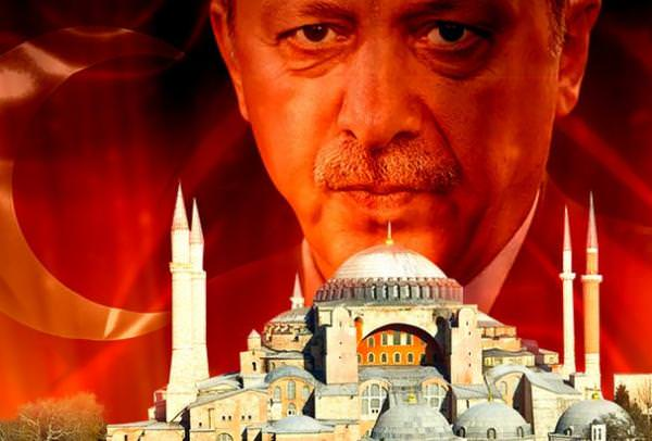 Реджеп Эрдоган и храм Святой Софии