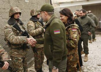 Никол Пашинян и Анна Акопян