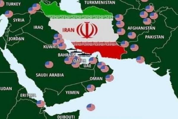 Военные базы США вокруг Ирана