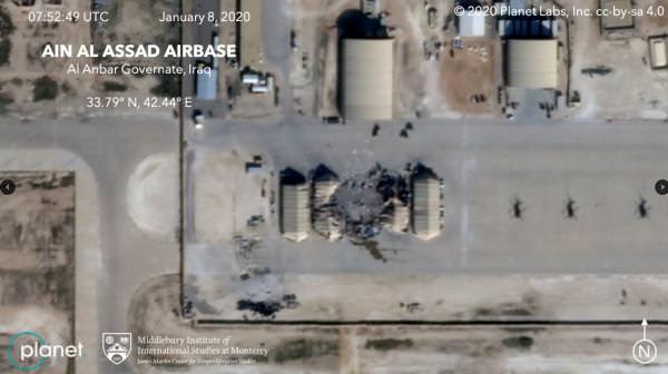 ракетный удар Ирана по базе США