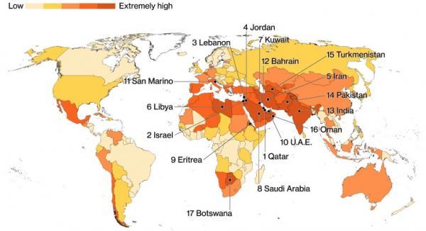 страны с дефицитом воды