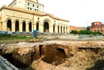 раскопки Ереван площадь Республики