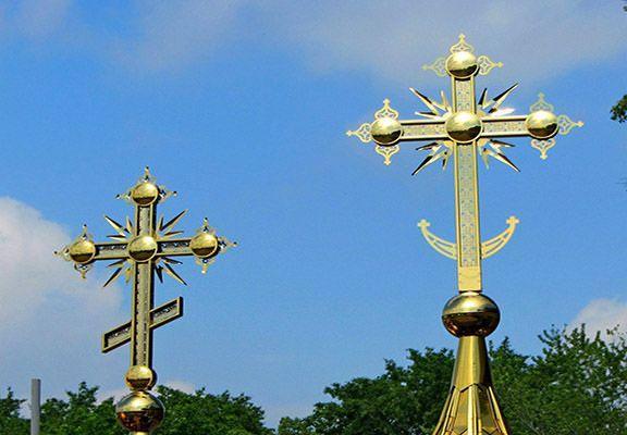 кресты на русских церквях