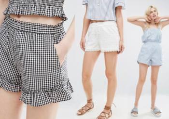 шорты из текстиля