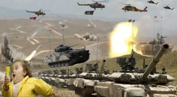 фотошоп военные учения Турция Азербайджан