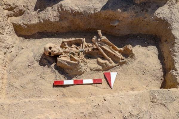 Скелет урартской женщины