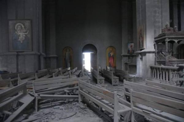 Сурб Аменапркич Казанчецоц после обстрела