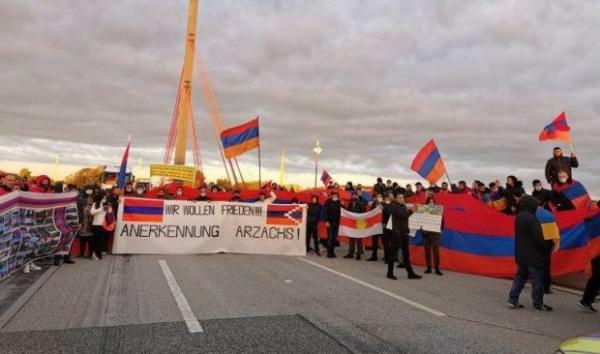 акция протеста Гамбург