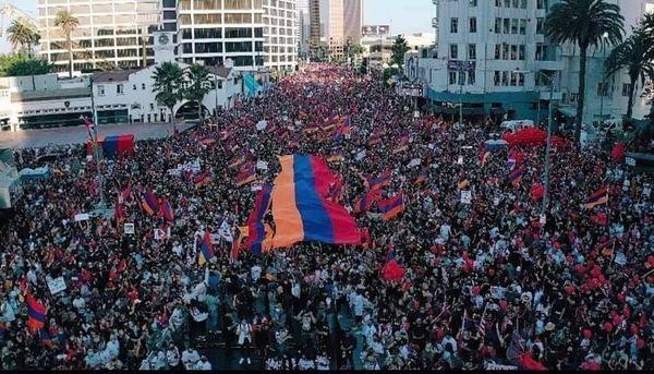 акция протеста Лос-Анджелес