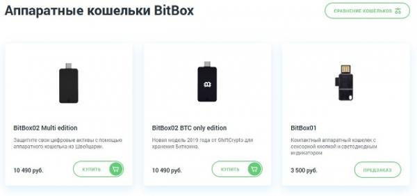 Аппаратные кошельки BitBox