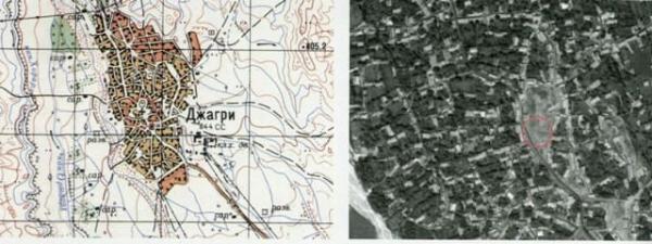 Снимок с космоса места разрушения храма