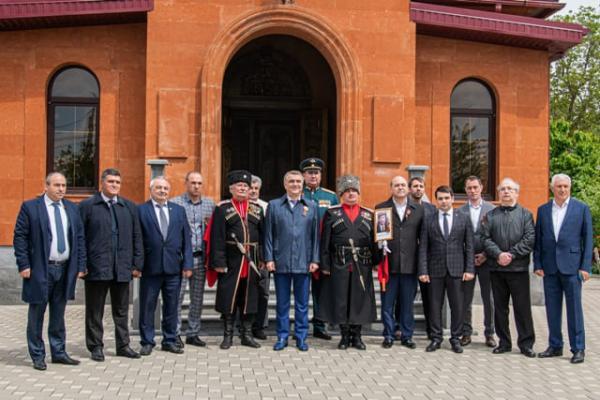 открытие бюста маршала Баграмяна Славянск-на-Кубани 9 мая 2021