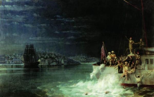 Иван Айвазовский. Армян погружают на корабли